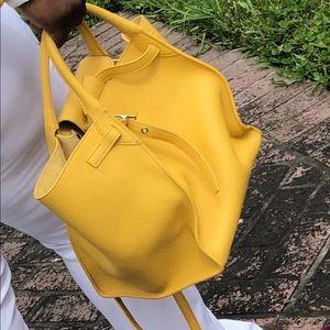 Céline canary yellow hand bag